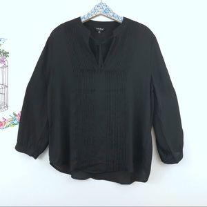 Lucky Brand Black peasant blouse size medium